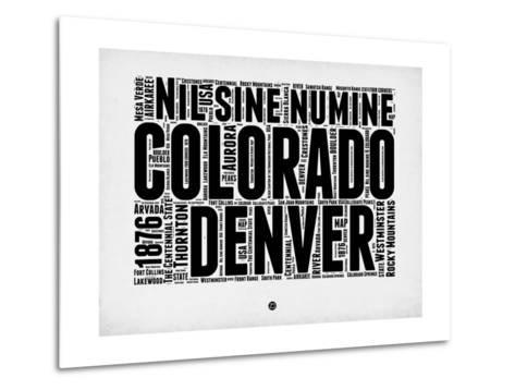 Denver Word Cloud 2-NaxArt-Metal Print