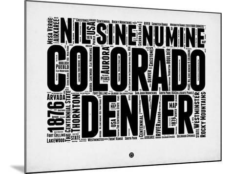 Denver Word Cloud 2-NaxArt-Mounted Art Print