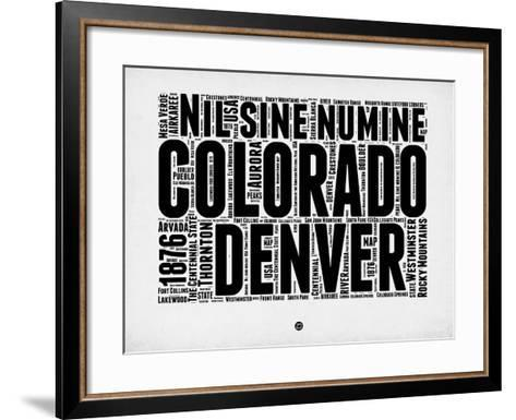 Denver Word Cloud 2-NaxArt-Framed Art Print