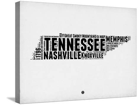 Tennessee Word Cloud 2-NaxArt-Stretched Canvas Print