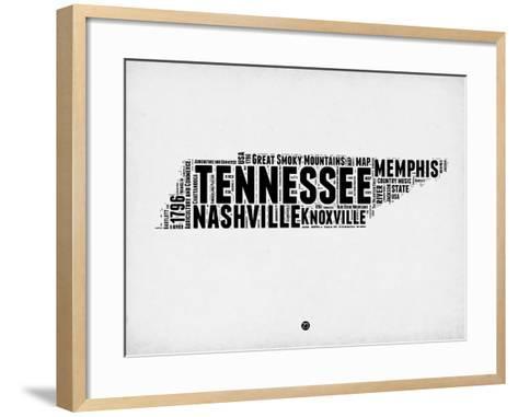 Tennessee Word Cloud 2-NaxArt-Framed Art Print