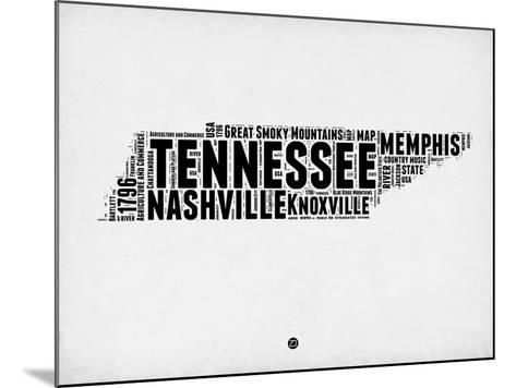 Tennessee Word Cloud 2-NaxArt-Mounted Art Print