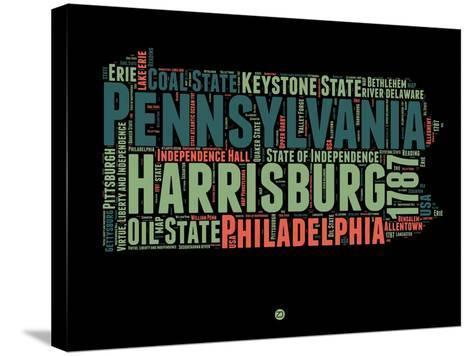 Pennsylvania Word Cloud 1-NaxArt-Stretched Canvas Print