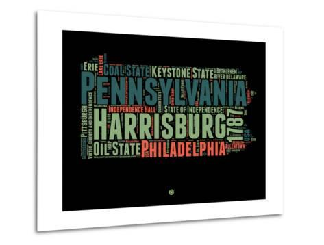 Pennsylvania Word Cloud 1-NaxArt-Metal Print