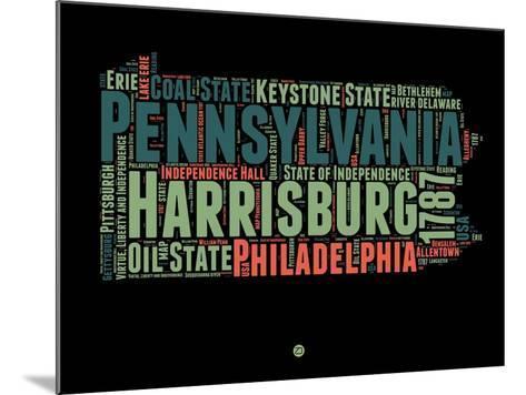 Pennsylvania Word Cloud 1-NaxArt-Mounted Art Print