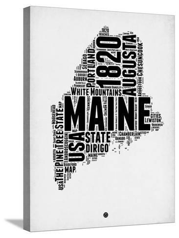 Maine Word Cloud 2-NaxArt-Stretched Canvas Print