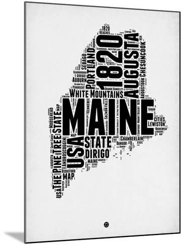 Maine Word Cloud 2-NaxArt-Mounted Art Print