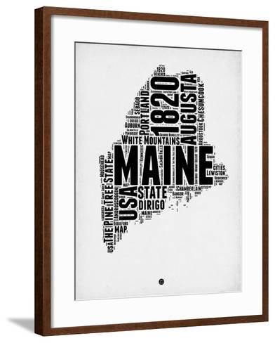 Maine Word Cloud 2-NaxArt-Framed Art Print