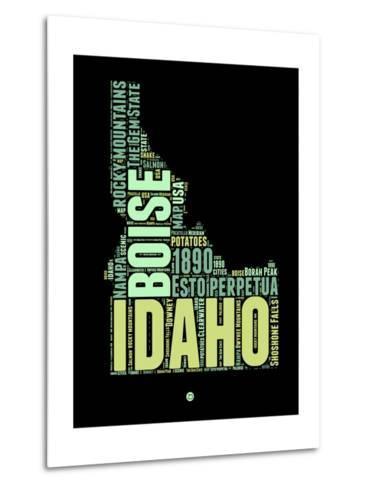 Idaho Word Cloud 1-NaxArt-Metal Print