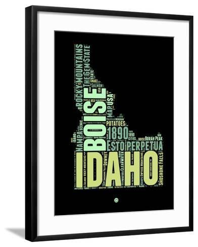 Idaho Word Cloud 1-NaxArt-Framed Art Print