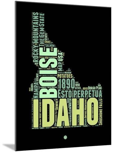 Idaho Word Cloud 1-NaxArt-Mounted Art Print