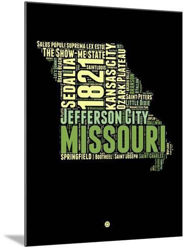 Missouri Word Cloud 1-NaxArt-Mounted Art Print