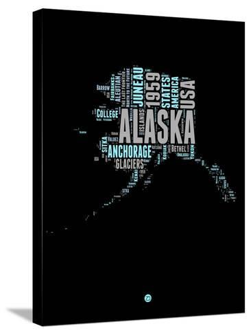 Alaska Word Cloud 1-NaxArt-Stretched Canvas Print