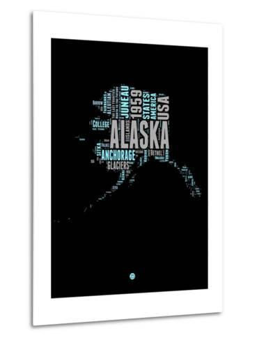 Alaska Word Cloud 1-NaxArt-Metal Print
