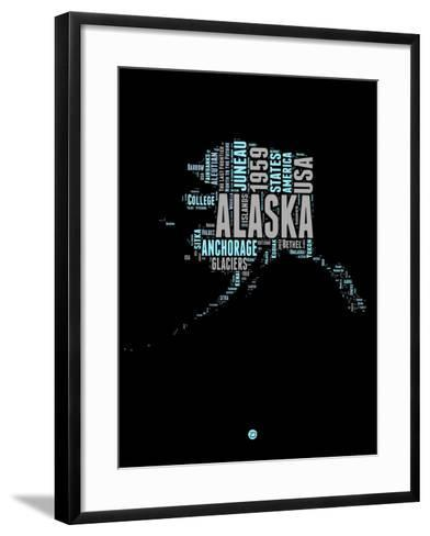 Alaska Word Cloud 1-NaxArt-Framed Art Print