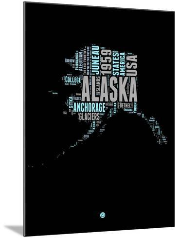 Alaska Word Cloud 1-NaxArt-Mounted Art Print