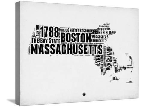 Massachusetts Word Cloud 2-NaxArt-Stretched Canvas Print