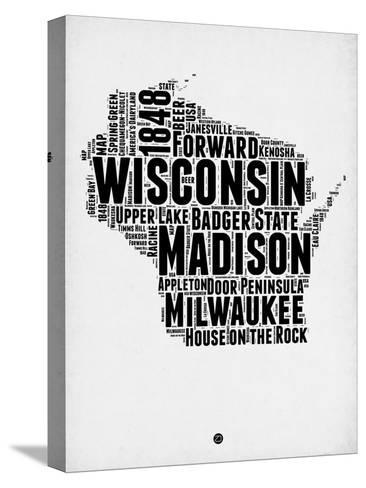 Wisconsin Word Cloud 2-NaxArt-Stretched Canvas Print