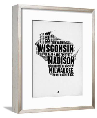 Wisconsin Word Cloud 2-NaxArt-Framed Art Print