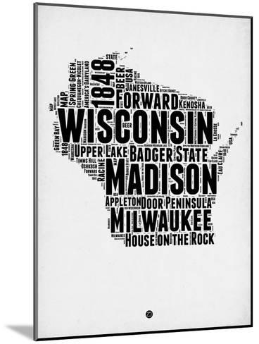 Wisconsin Word Cloud 2-NaxArt-Mounted Art Print
