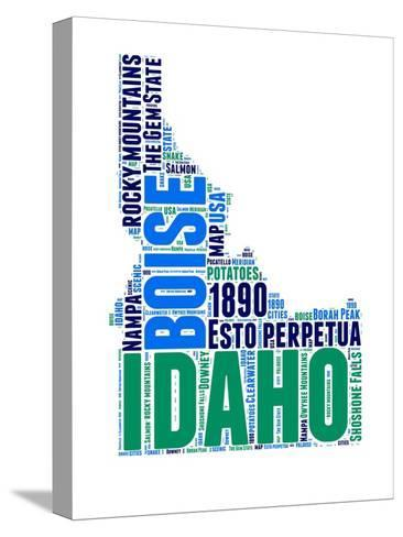 Idaho Word Cloud Map-NaxArt-Stretched Canvas Print