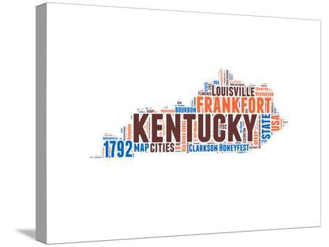 Kentucky Word Cloud Map-NaxArt-Stretched Canvas Print
