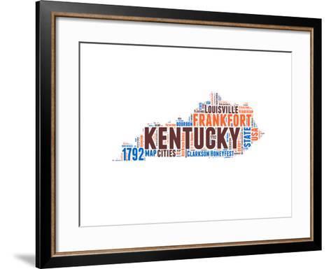 Kentucky Word Cloud Map-NaxArt-Framed Art Print