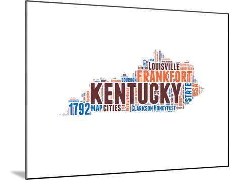 Kentucky Word Cloud Map-NaxArt-Mounted Art Print