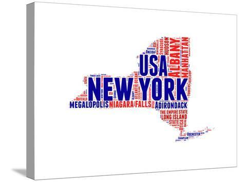 New York Word Cloud Map-NaxArt-Stretched Canvas Print