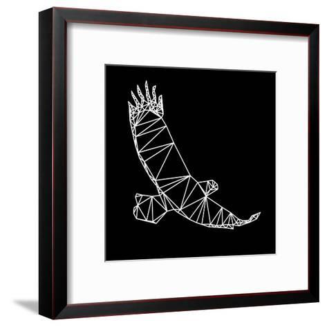 Black Eagle Polygon-Lisa Kroll-Framed Art Print