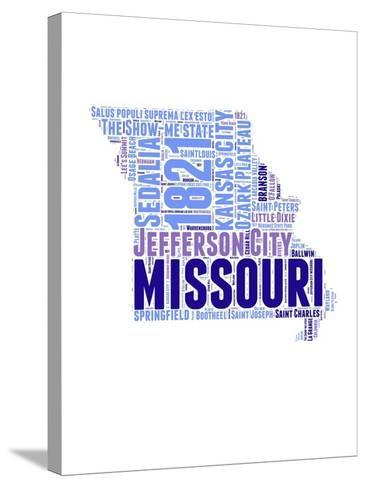 Missouri Word Cloud Map-NaxArt-Stretched Canvas Print
