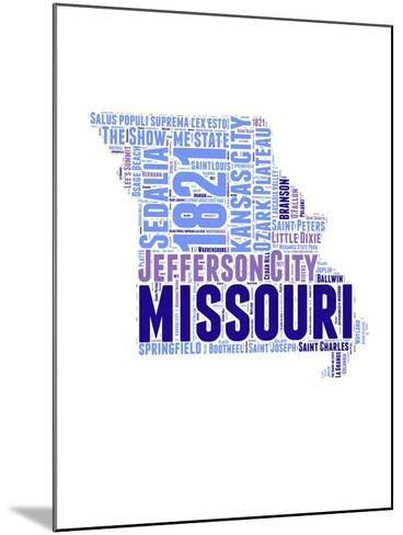 Missouri Word Cloud Map-NaxArt-Mounted Art Print