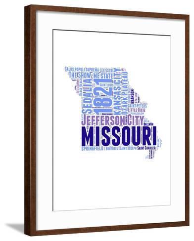 Missouri Word Cloud Map-NaxArt-Framed Art Print