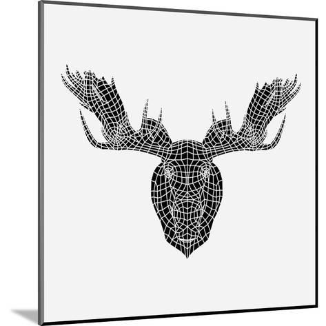 Moose Head Mesh-Lisa Kroll-Mounted Art Print