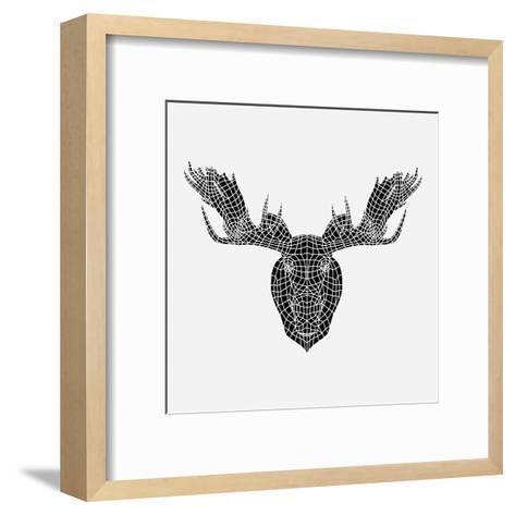 Moose Head Mesh-Lisa Kroll-Framed Art Print