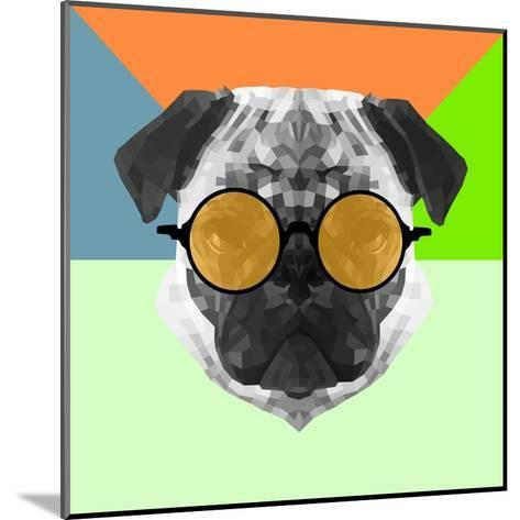 Party Pug in Yellow Glasses-Lisa Kroll-Mounted Art Print