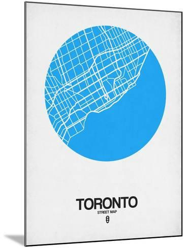 Toronto Street Map Blue-NaxArt-Mounted Art Print
