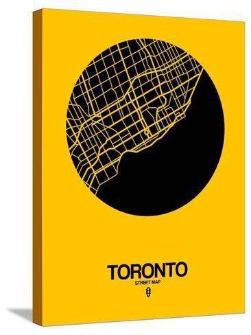 Toronto Street Map Yellow-NaxArt-Stretched Canvas Print