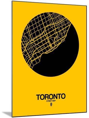Toronto Street Map Yellow-NaxArt-Mounted Art Print