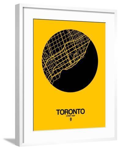 Toronto Street Map Yellow-NaxArt-Framed Art Print