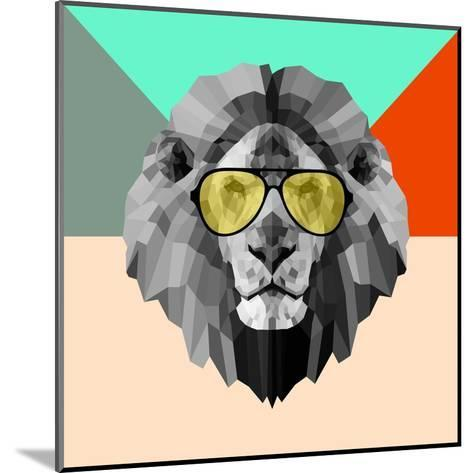 Party Lion in Glasses-Lisa Kroll-Mounted Art Print