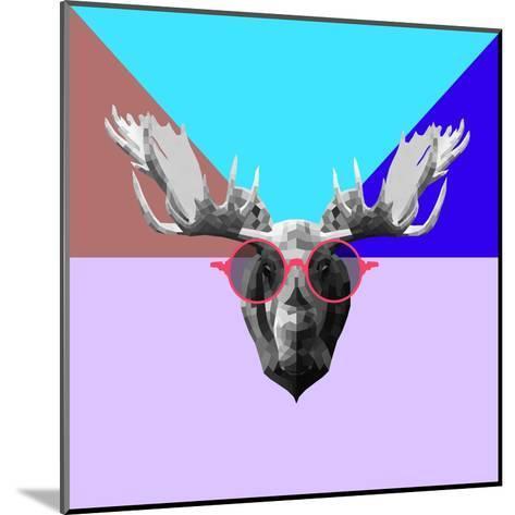 Party Moose in Glasses-Lisa Kroll-Mounted Art Print