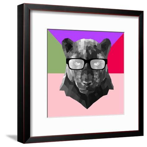 Party Panther in Glasses-Lisa Kroll-Framed Art Print