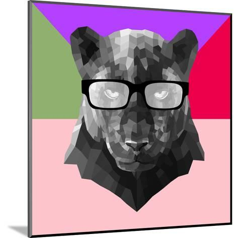 Party Panther in Glasses-Lisa Kroll-Mounted Art Print