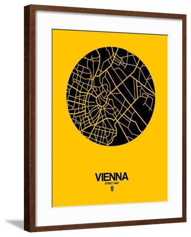 Vienna Street Map Yellow-NaxArt-Framed Art Print