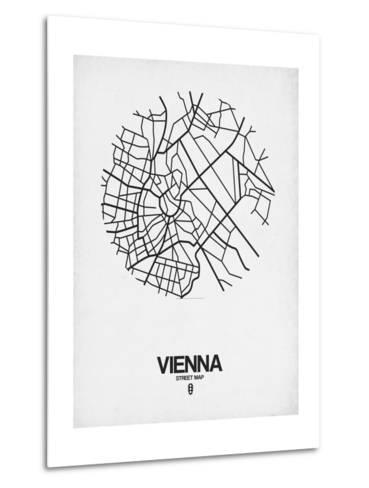 Vienna Street Map White-NaxArt-Metal Print