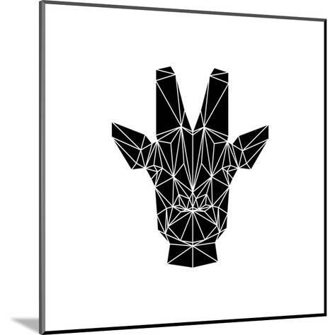 Black Giraffe-Lisa Kroll-Mounted Art Print
