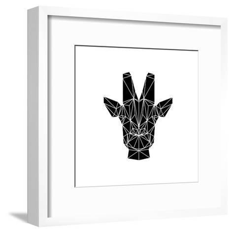 Black Giraffe-Lisa Kroll-Framed Art Print