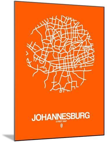 Johannesburg Street Map Orange-NaxArt-Mounted Art Print