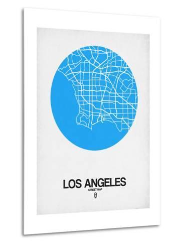 Los Angeles Street Map Blue-NaxArt-Metal Print